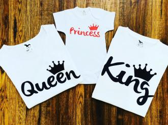 King, queen, princess Trojset